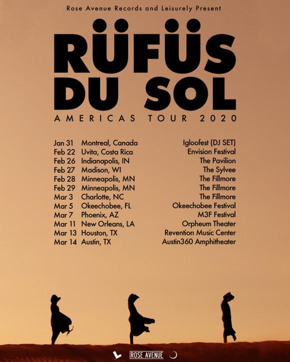 RUFUS DU SOL 2020 Tour