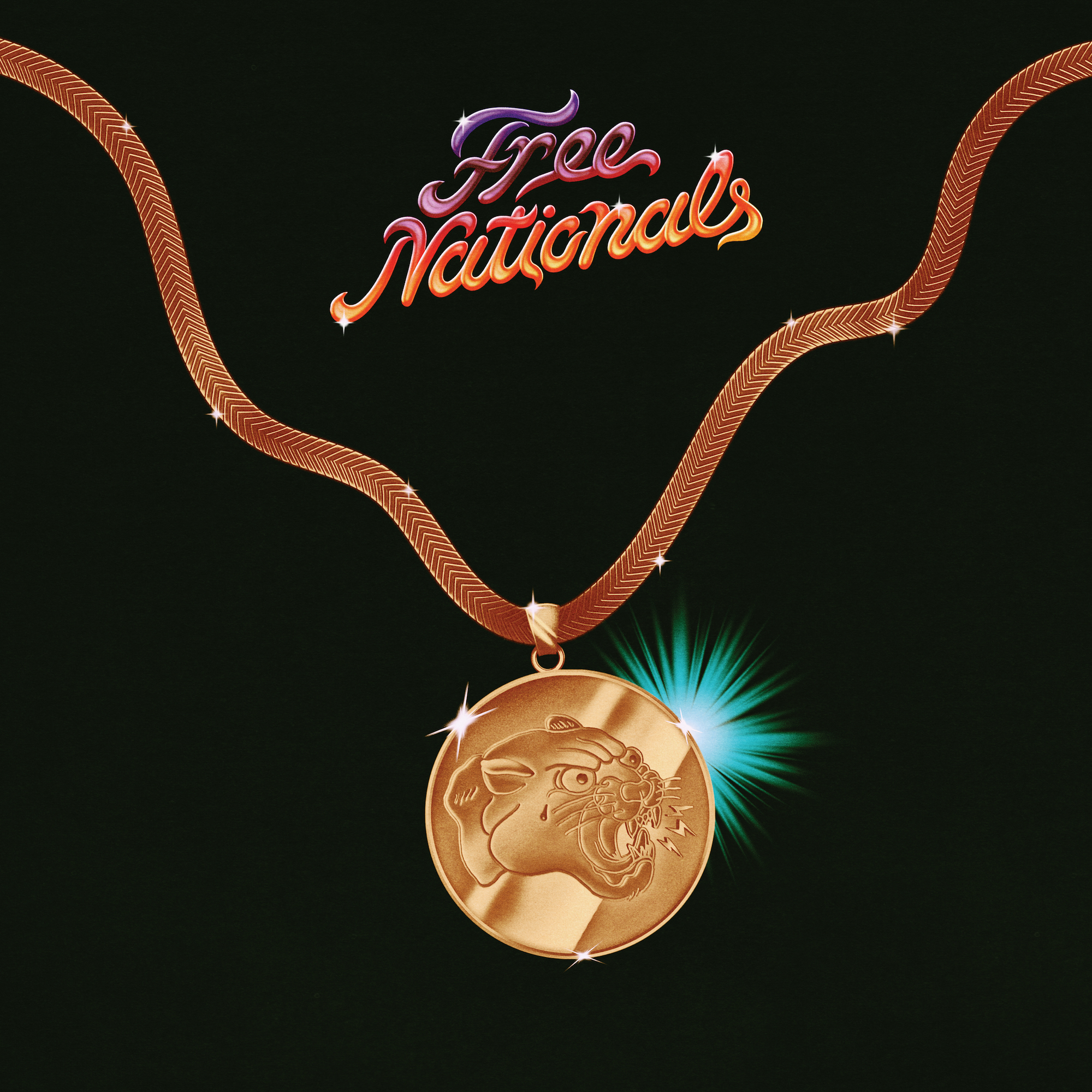 The Free Nationals self-titled debut album cover artwork