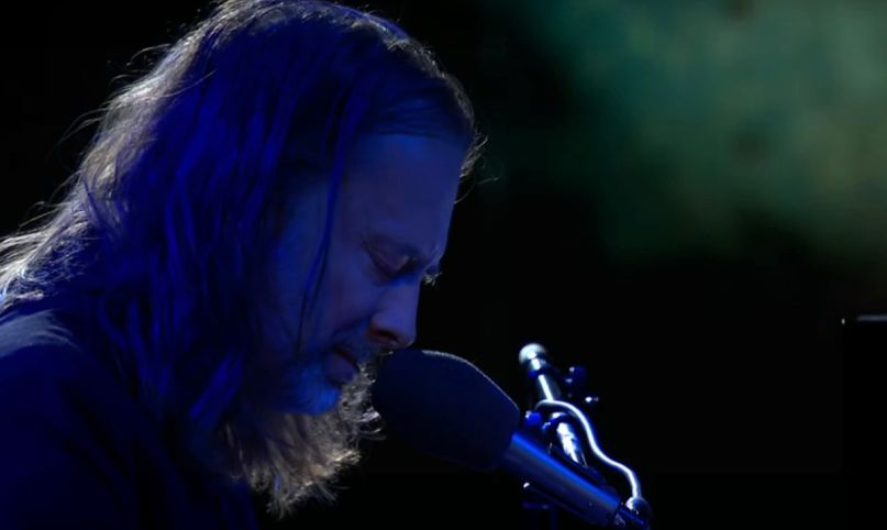 """Thom Yorke performs """"Daily Battles"""" on Colbert"""