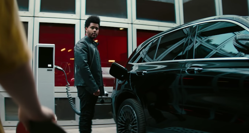"The Weeknd ""Blinding Lights"" mercedes-benz ad"