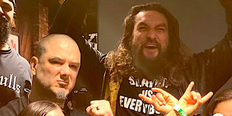 Jason Momoa performs with Philip Anselmo