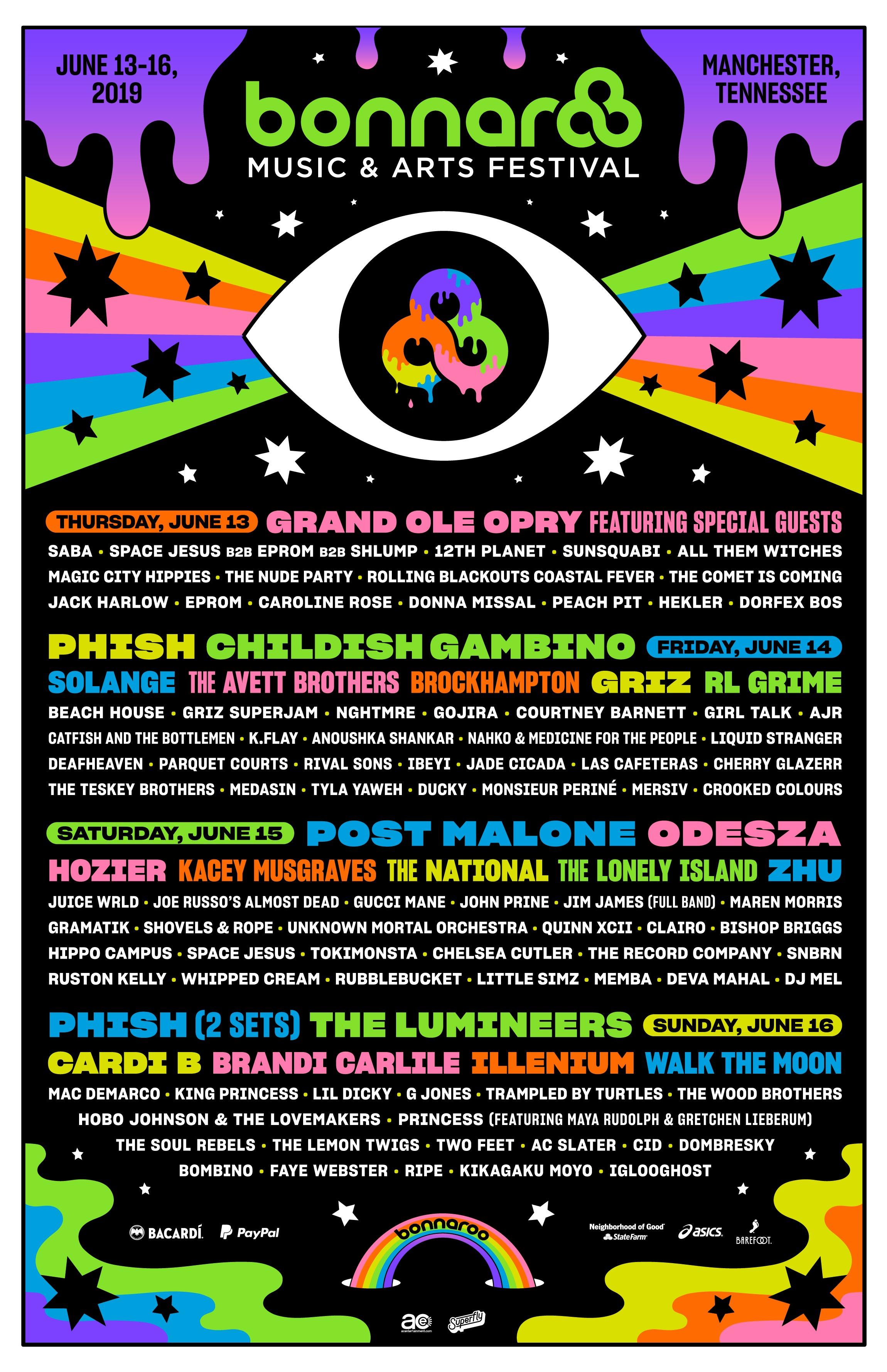 Bonnaroo 2019 lineup