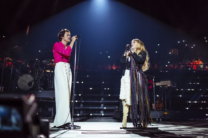 Harry Styles with Stevie Nicks, photo by Helene Pambrun