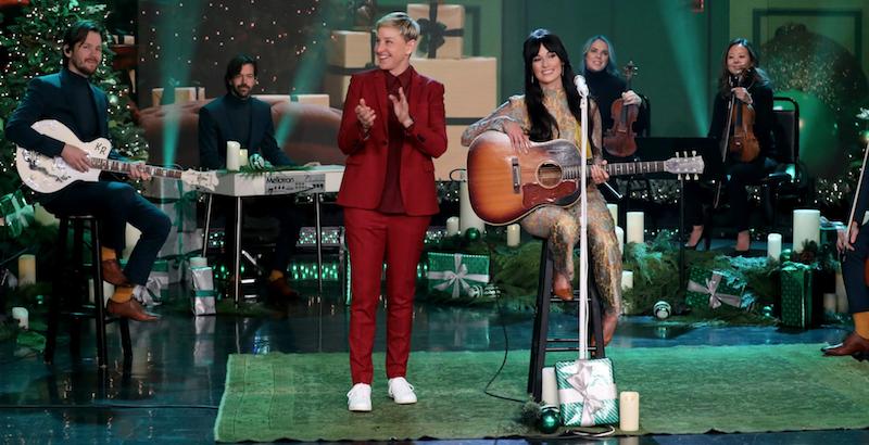 Kacey Musgraves on Ellen Christmas Makes Me Cry interview Michael Rozman Warner Bros.