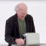 Larry David in Curb Your Enthusiasm season 10 trailer toaster watch