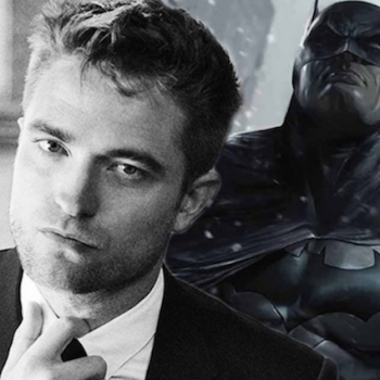 Robert Pattinson and Batman