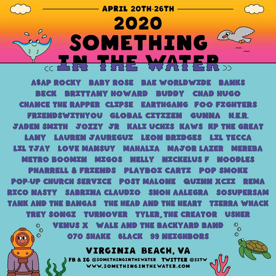 Something in the Water Festival 2020 lineup