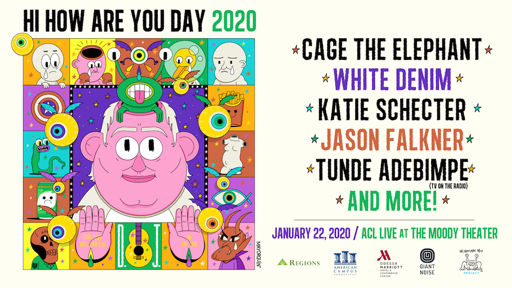 daniel johnston tribute concert hi how are you day Cage the Elephant, Tunde Adebimpe, and more to play Daniel Johnston tribute concert in Austin