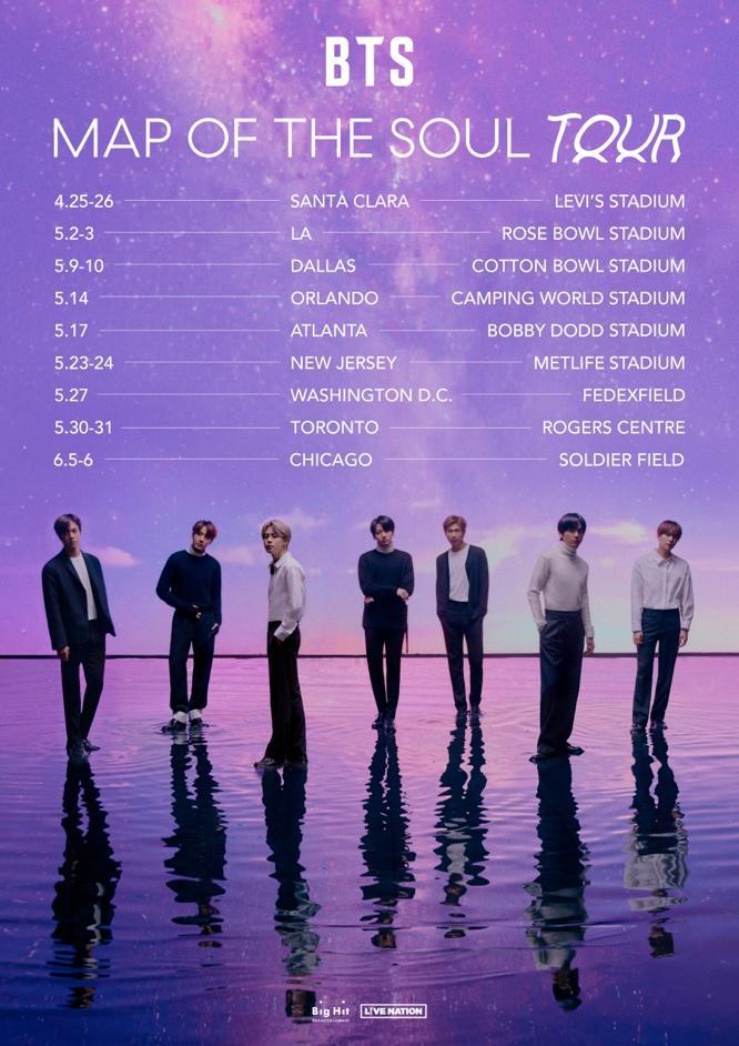 BTS Map of the Soul 2020 tour