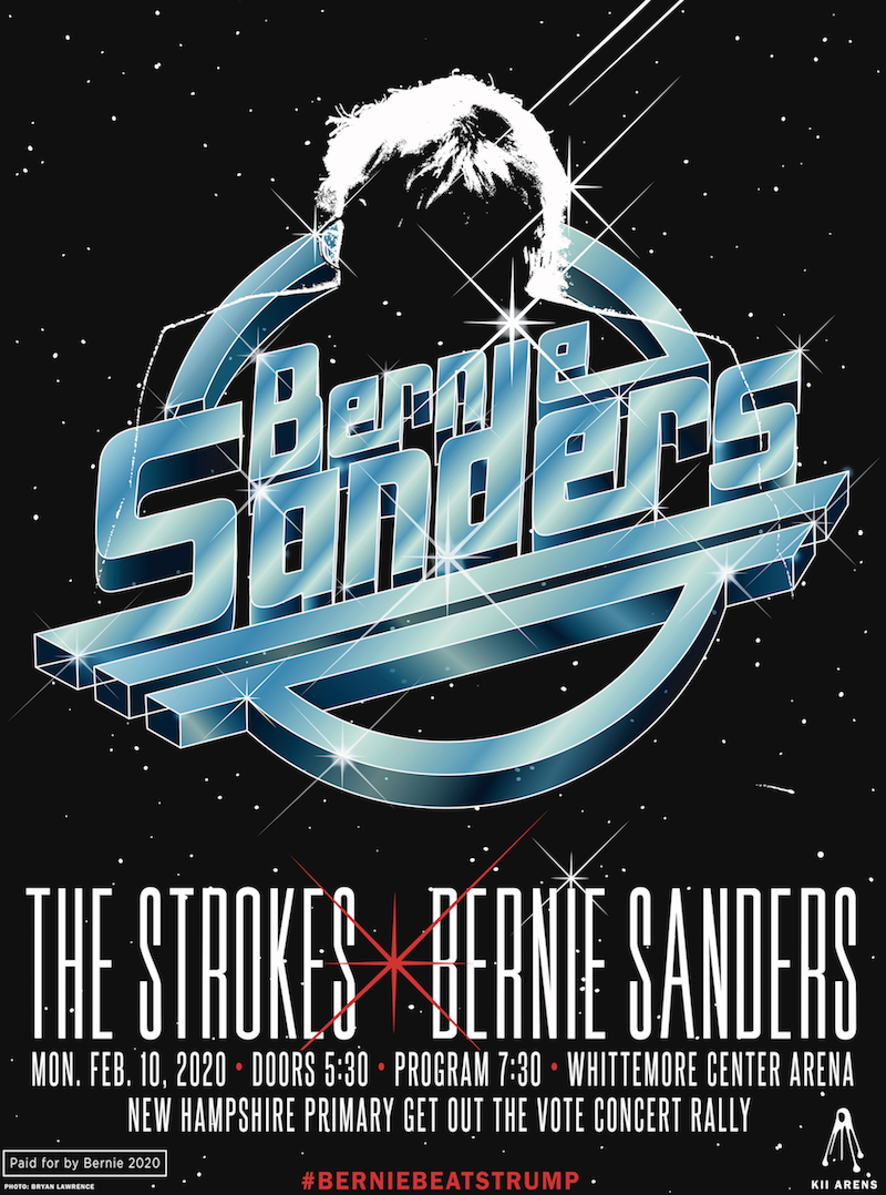 Bernie Sanders The Strokes Rally Artwork