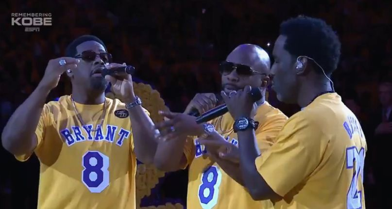 Boyz II Men sing at Kobe Bryant tribute