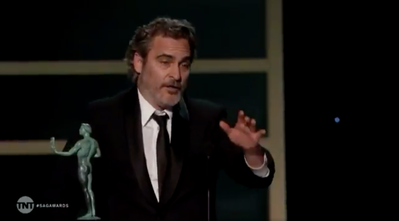 Joaquin Phoenix Heath Ledger SAG Awards Acceptance Speech