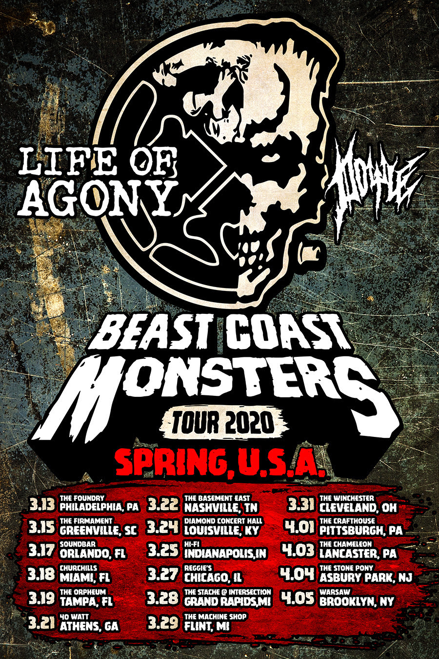 Life of Agony Doyle tour poster