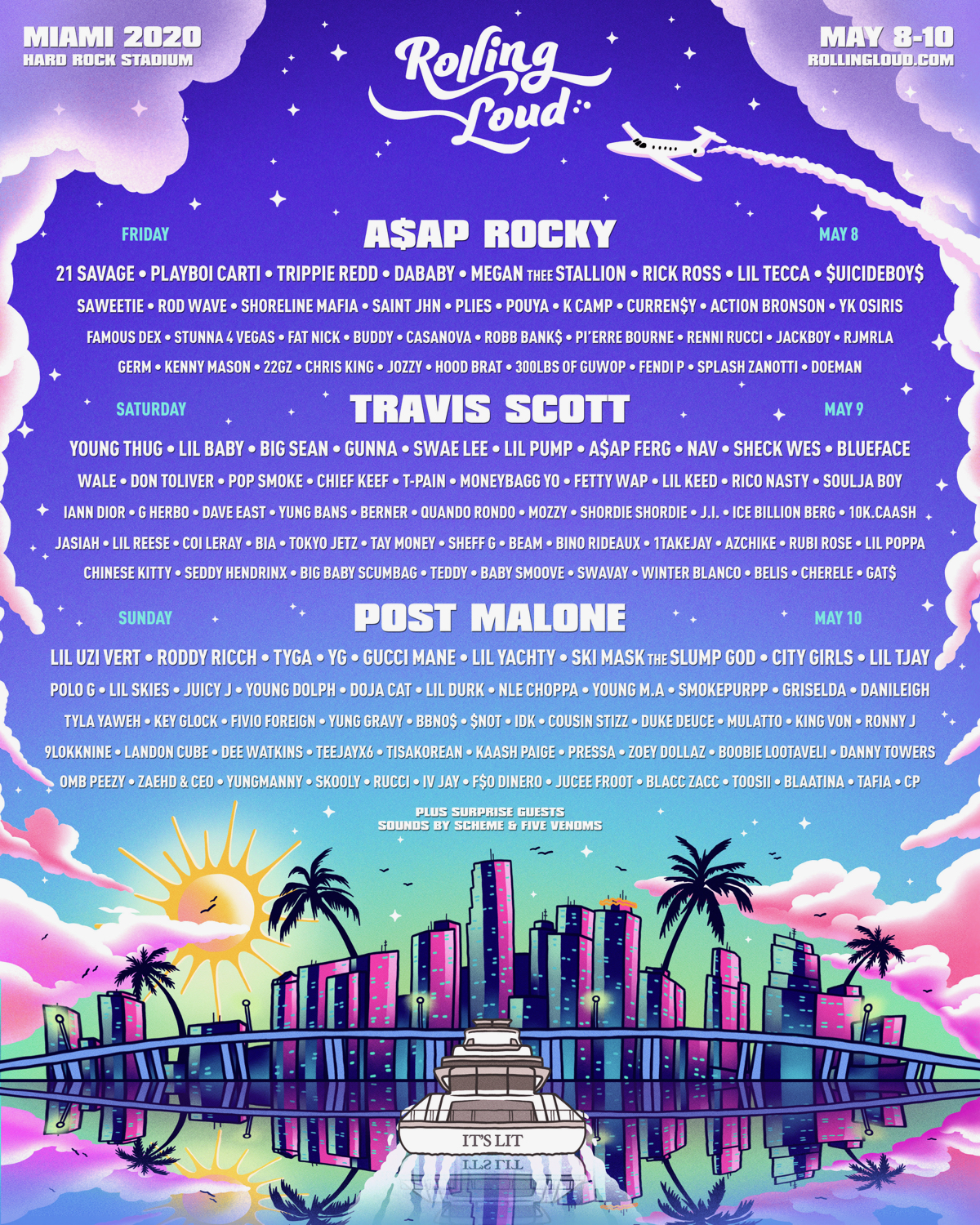 Rolling Loud 2020 Miami lineup