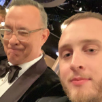 Tom Hanks and Chet Hanks son Golden Globes crash accent