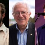 bon iver bernie sanders vampire weekend rally endorsement president