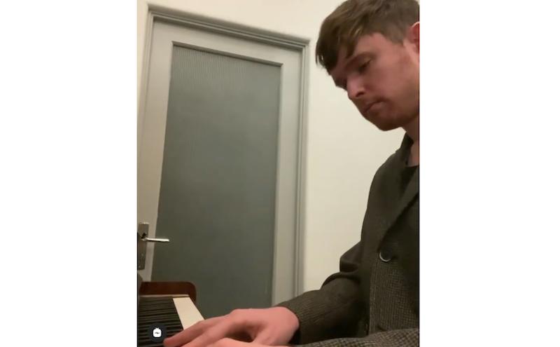 james blake cover frank ocean godspeed piano video