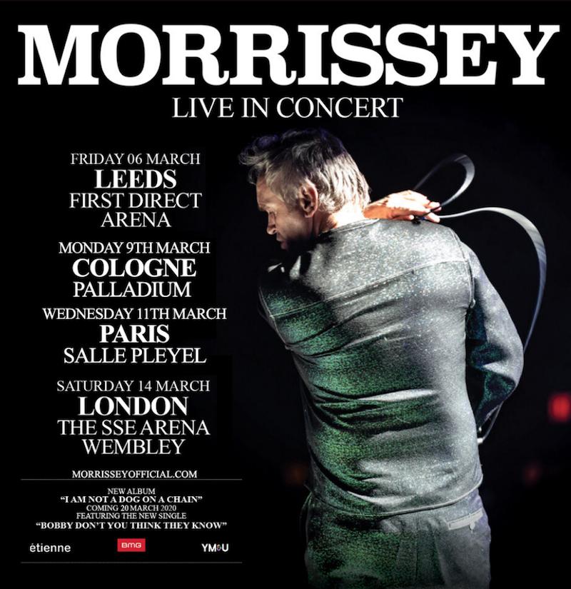 morrissey live concert uk europe tour dates tickets Morrissey announces initial 2020 tour dates