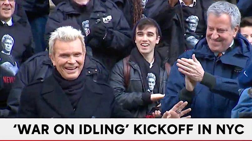 Billy Idol and Bill de Blasio War on Idling