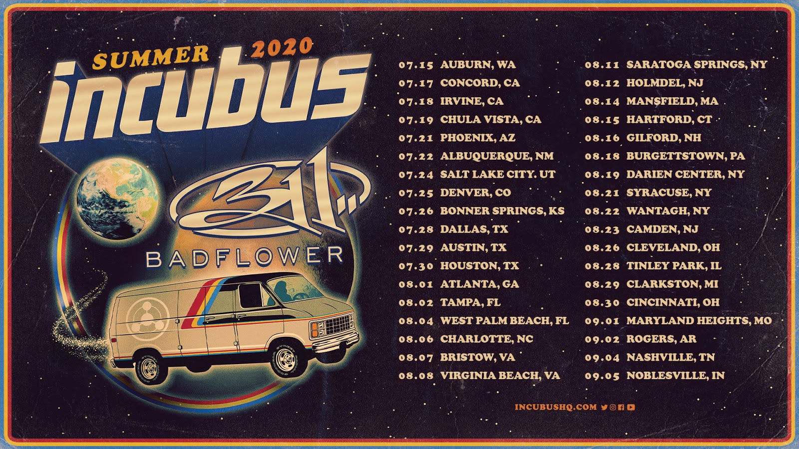 Incubus 311 tour