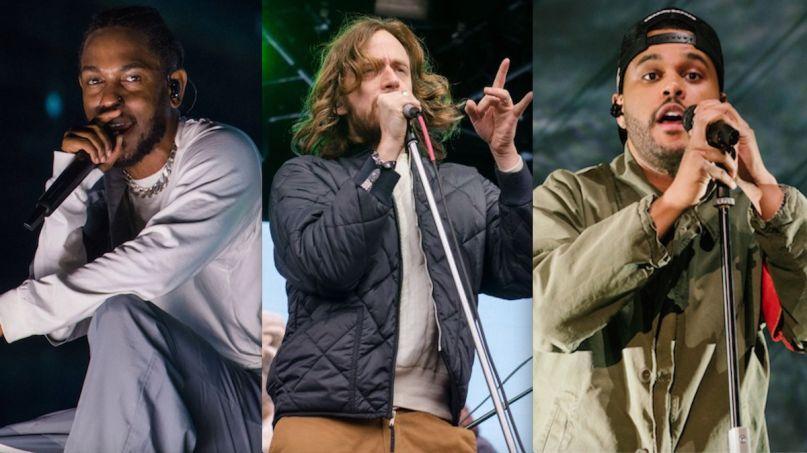 Kendrick Lamar (David Brendan Hall), Yeasayer (Ben Kaye), and The Weeknd (Natalie Somekh) Black Panther soundtrack Pray For Me Song sue sued suing lawsuit Sunrise