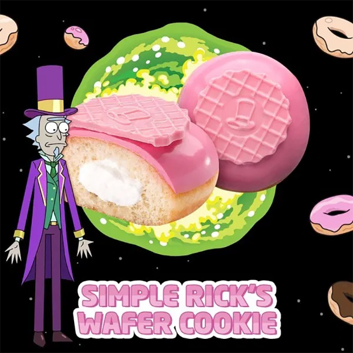 Krispy Kreme Rick and Morty donuts Simple Rick's Wafer Cookie