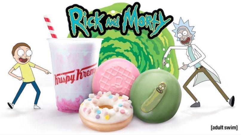 Rick and Morty donuts pickle Krispy Kreme, via Adult Swim