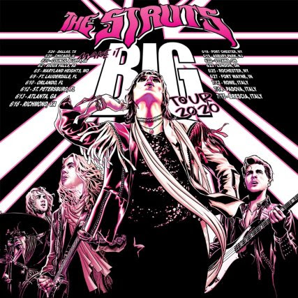 The Struts Poster The Struts Announce Dates for Make It Big Tour