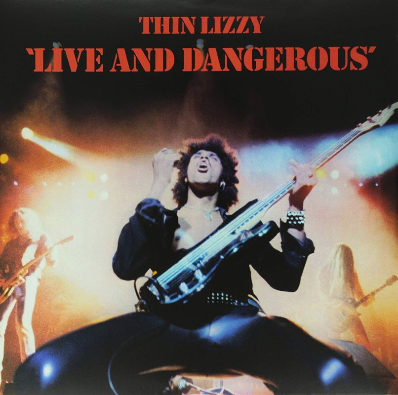 Thin Lizzy Live and Dangerous Album Cover Huey Lewis