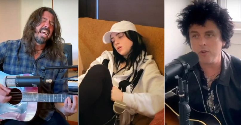 Dave Grohl, Billie Eilish, and Billie Joe Armstrong