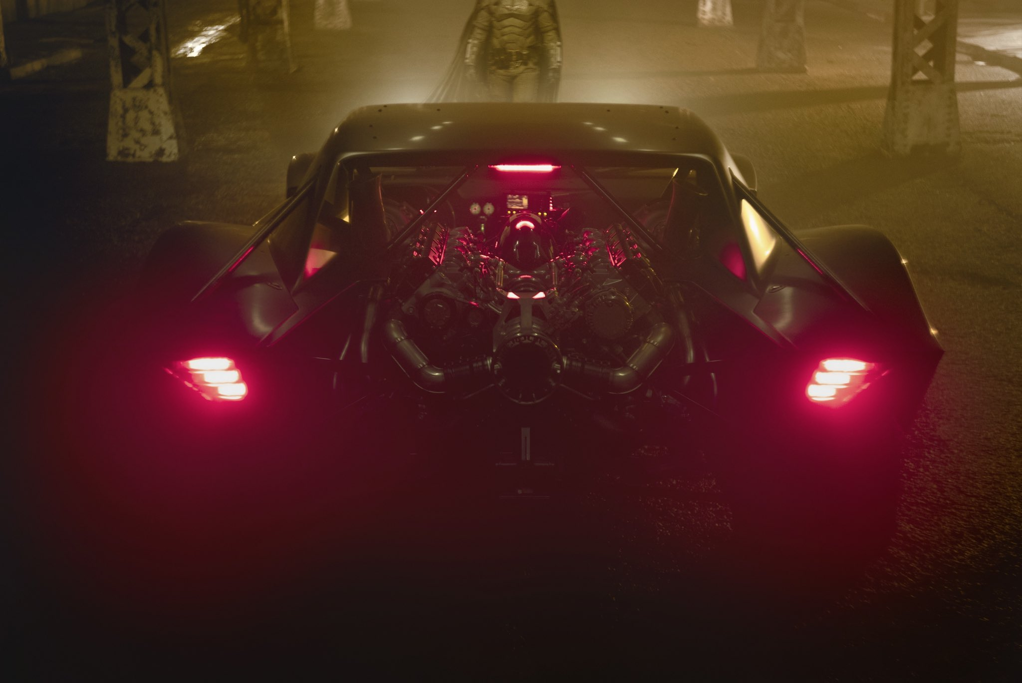 Matt Reeves The Batman Batsuit Batmobile costume car warner bros