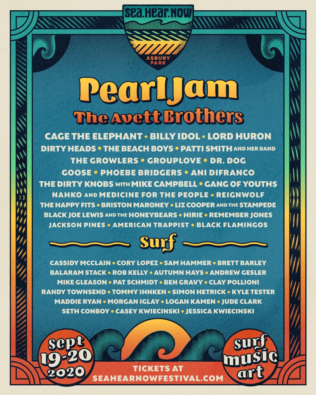 SeaHearNow Festival 2020 lineup