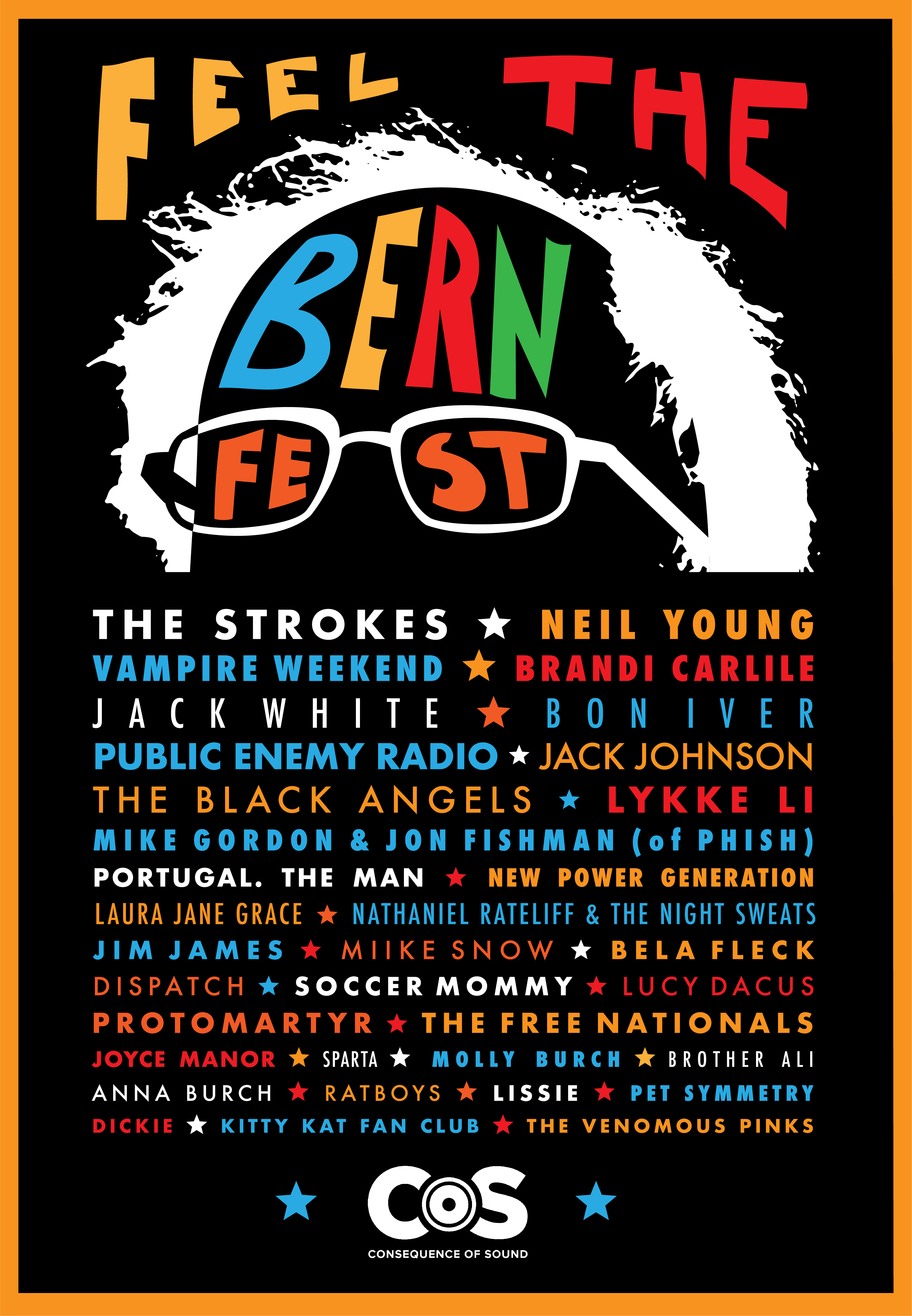 bernie sanders music performers festival final