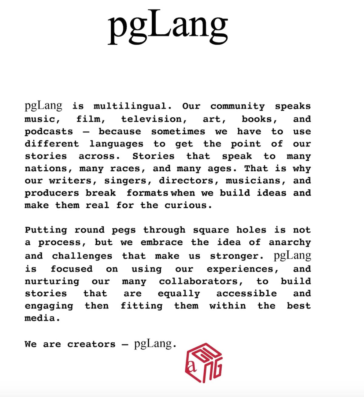 pglang kendrick lamar dave free mission statement