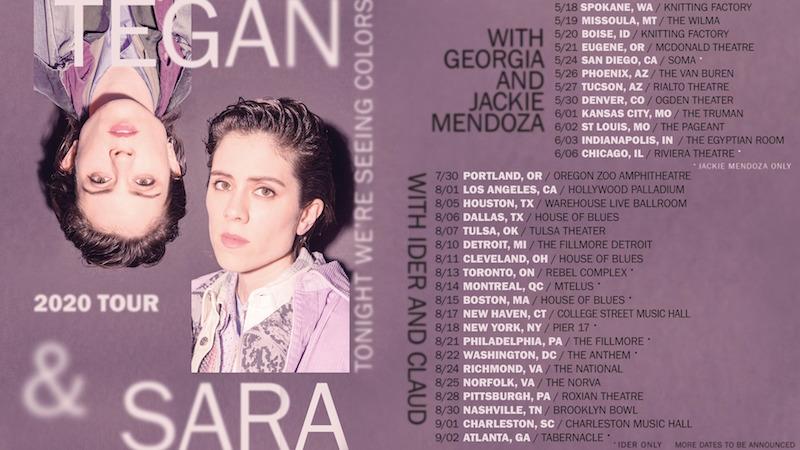 tegan sara seeing colors tour dates tickets Tegan and Sara Announce Were Seeing Colors Tour