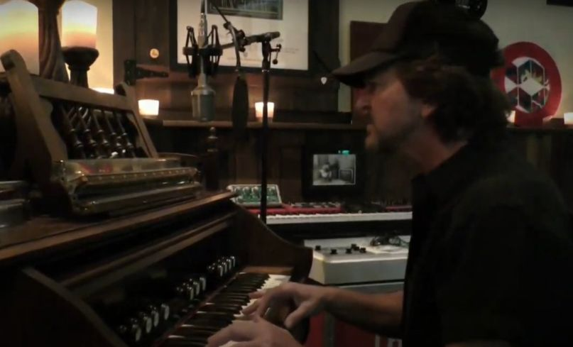 Eddie Vedder plays at One World: Together At Home Concert