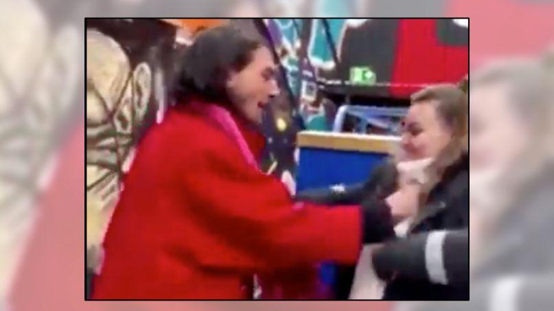 Ezra Miller chokes woman