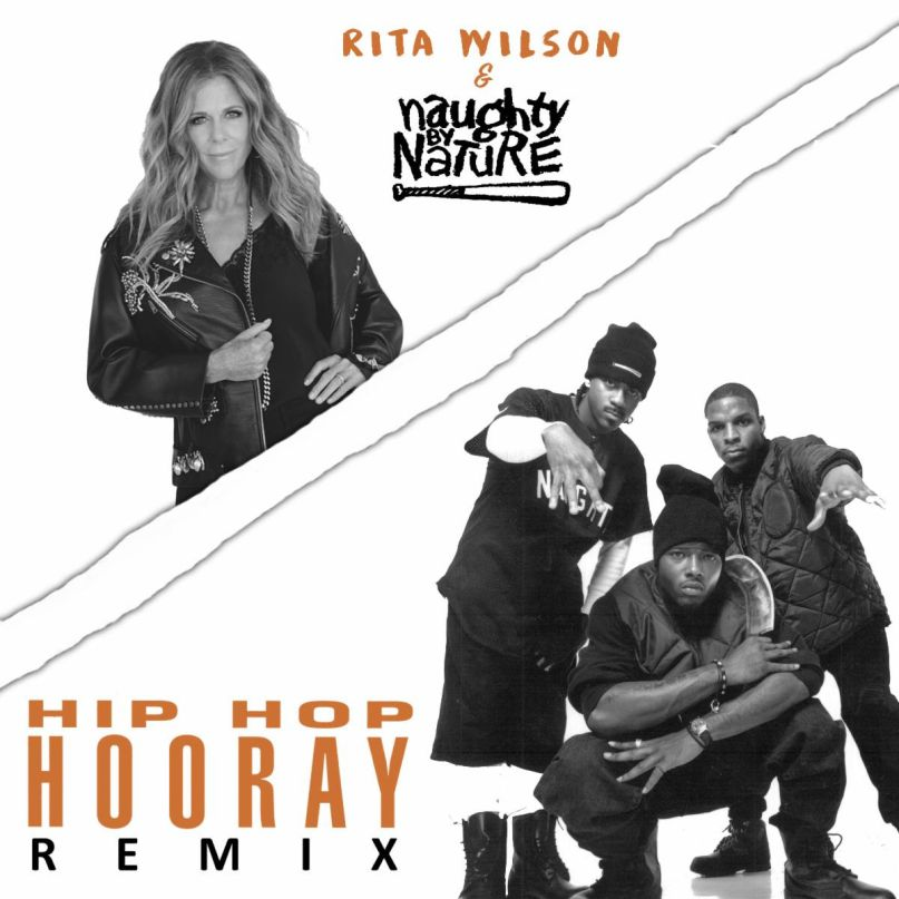 "Rita Wilson and Naughty By Nature's ""Hip Hop Hooray"" remix"