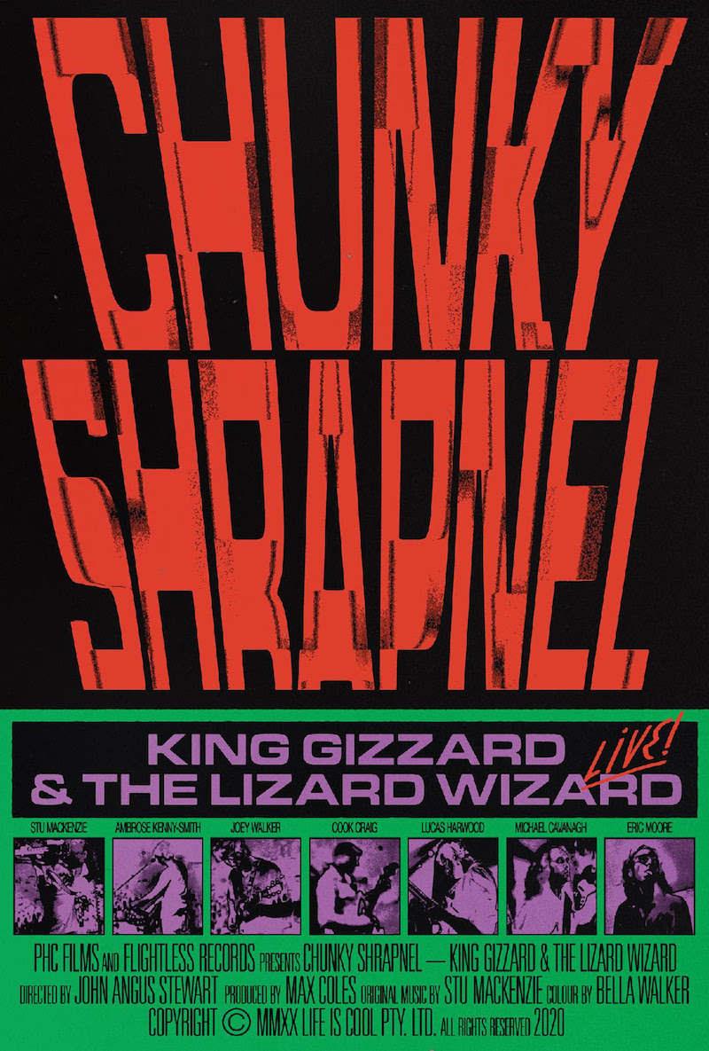 king gizzard chunky shrapnel film King Gizzard and the Lizard Wizard Announce New Live Album Chunky Shrapnel and Concert Film