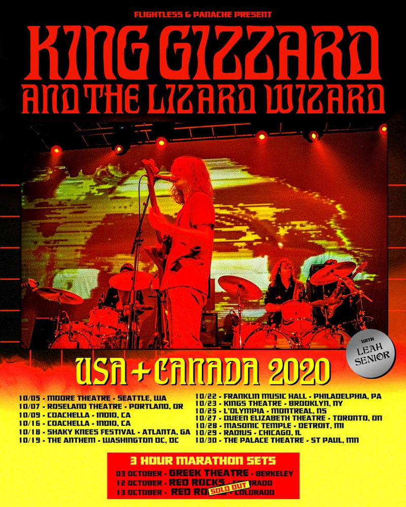 king gizzard concert tour dates schedule 2020 King Gizzard and the Lizard Wizard Announce New Live Album Chunky Shrapnel and Concert Film