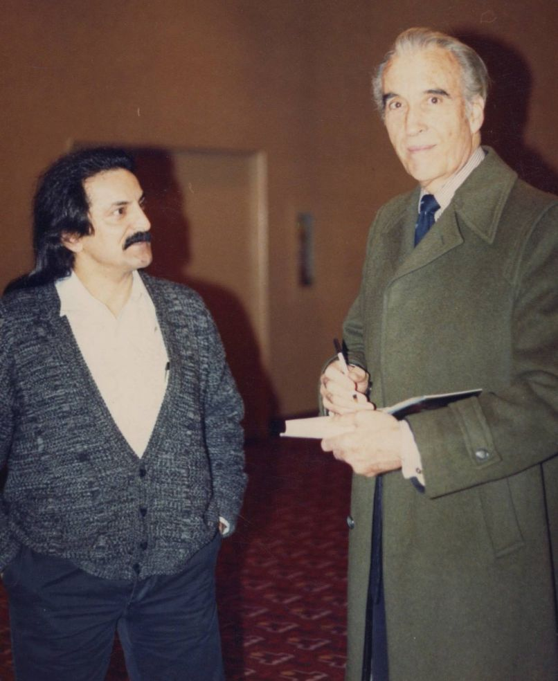 Tom Savini and Christopher Lee, photo courtesy of Twitter