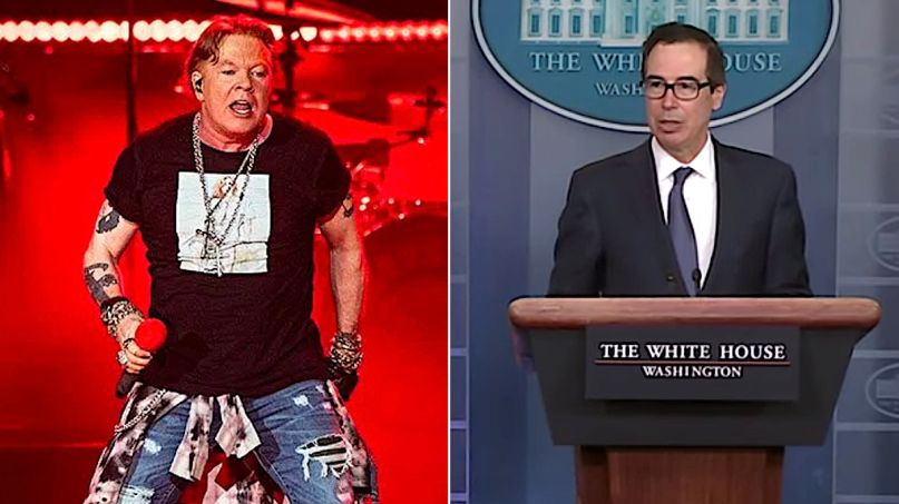 Axl Rose and Steve Mnuchin Twitter war