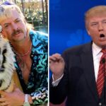 Joe Exotic (Netflix) and Donald Trump on CNBC Joe Exotic Trump pardoned jail