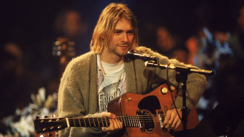 Nirvana on MTV Unplugged Kurt Cobain guitar auction million