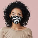 Chevron red room face mask