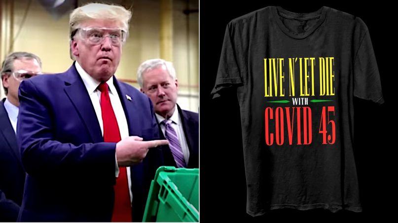 Guns N Roses T-shirt mocks Trump