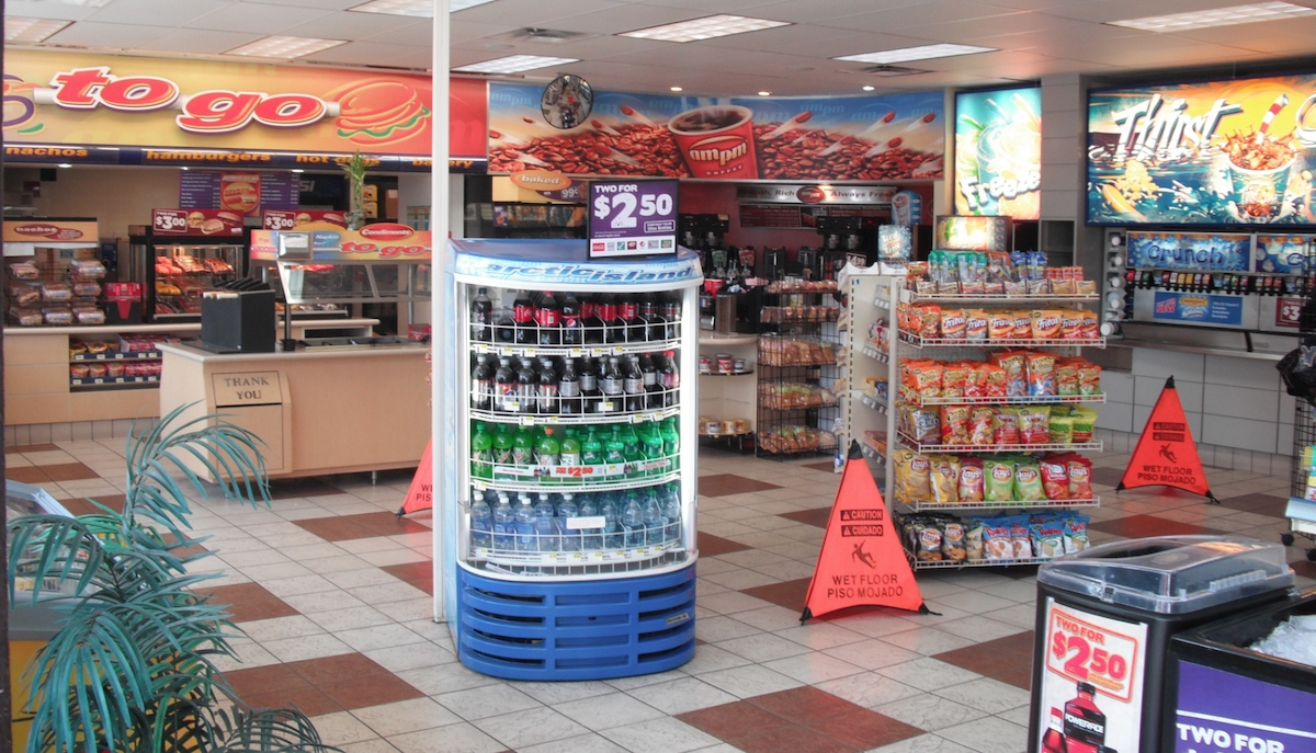 gas station food old time feeling s.g goodman