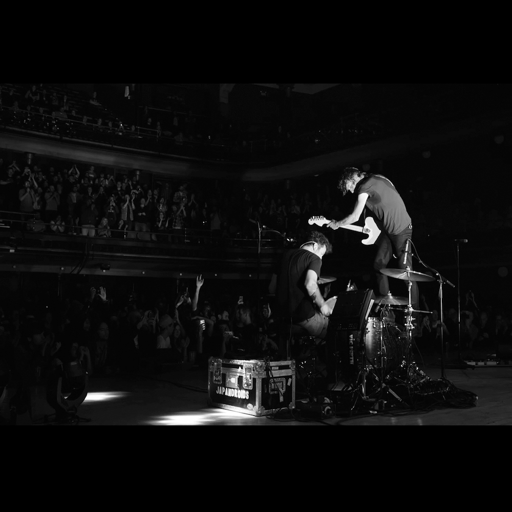 japandroids massey fucking hall album cover art Japandroids Announce First Ever Live Album Massey Fucking Hall