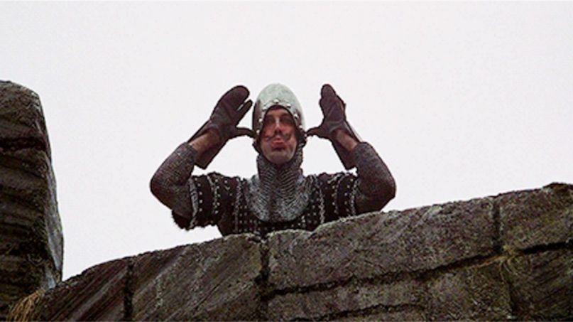 John Cleese Fox News in Monty Python and the Holy Grail