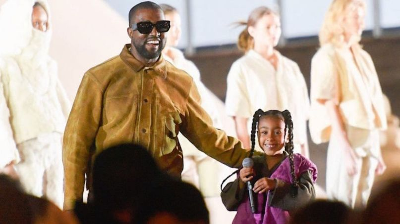 Kanye West and North West (Instagram) George Floyd daughter family protests charity college tuition fund
